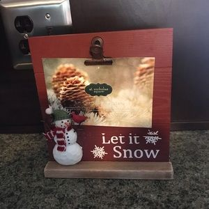 Let It Snow Clipboard Picture Frame